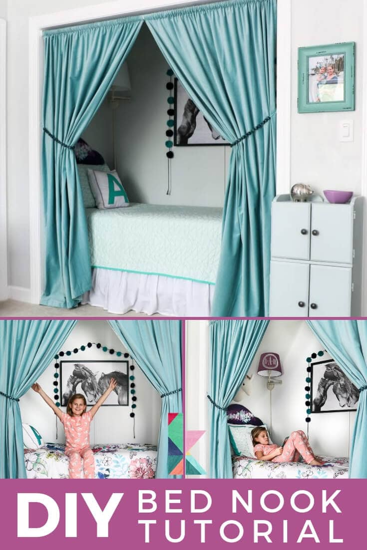 How To Turn A Closet Into A Bed Nook Designertrapped Com