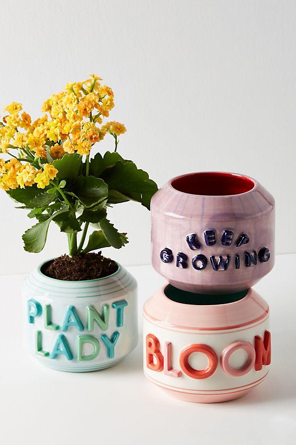 typography planters