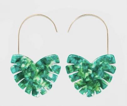 palm earrings
