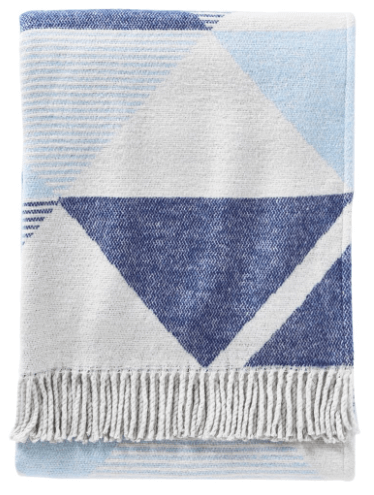 geometric blue blanket