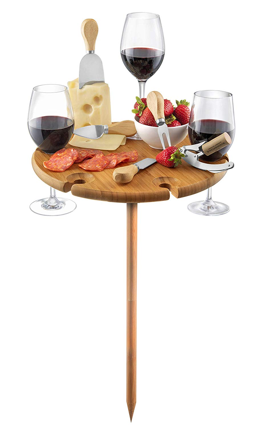 outdoor wine glass table