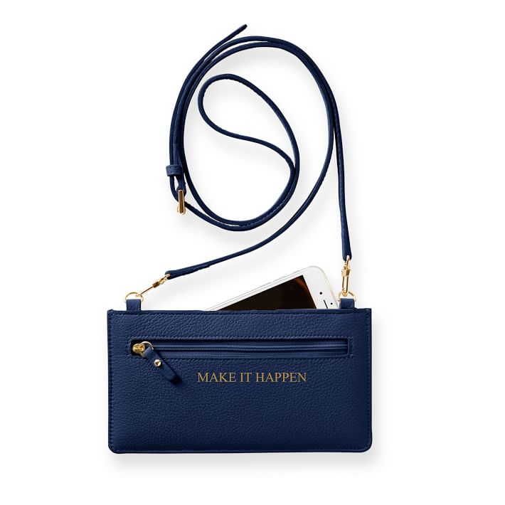 cross-body clutch navy