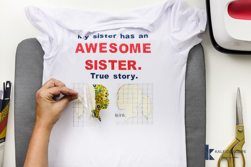 cricut infusible ink t-shirt revealing design
