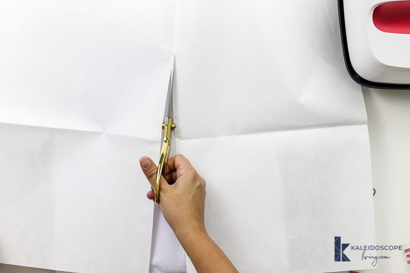 cutting butcher paper