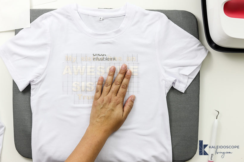 cricut infusible ink t-shirt