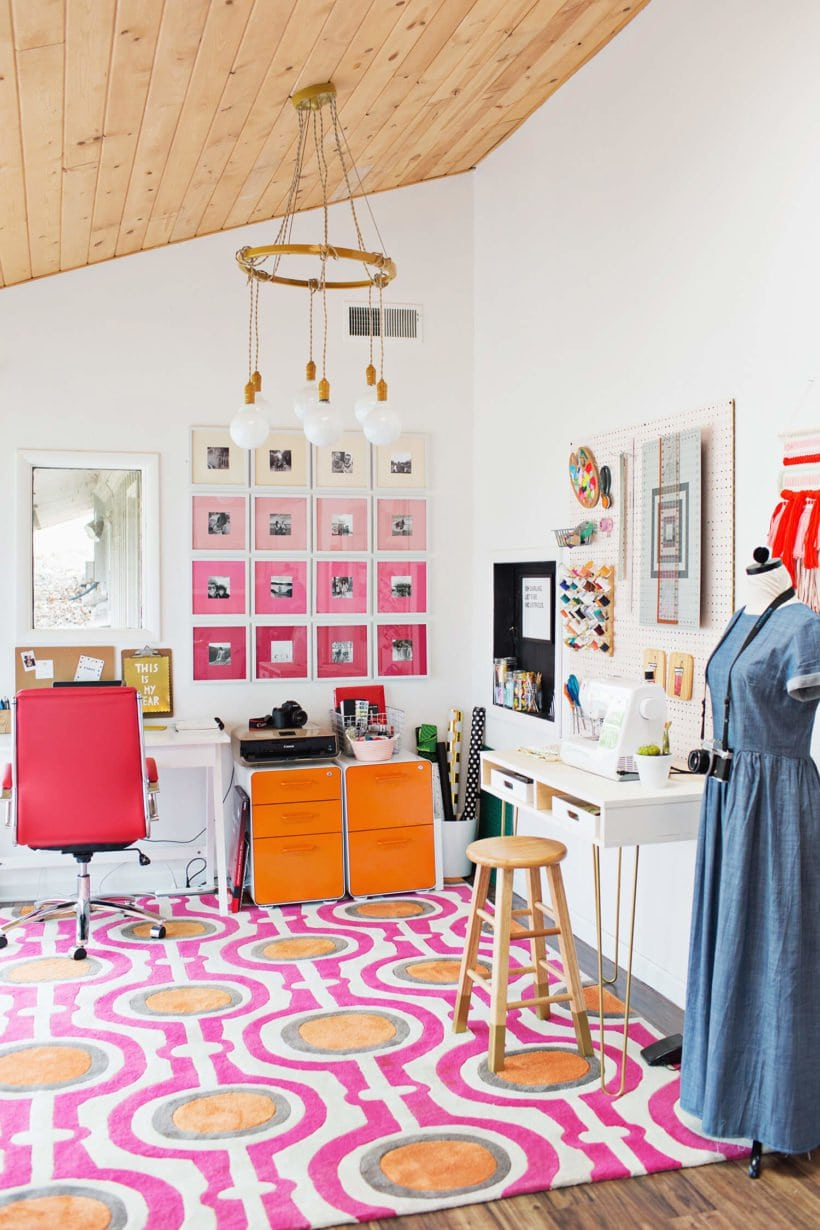 bright and bold craft room