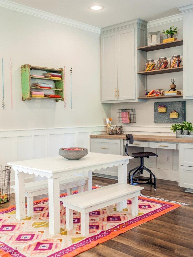 shared craft space by Fixer Upper