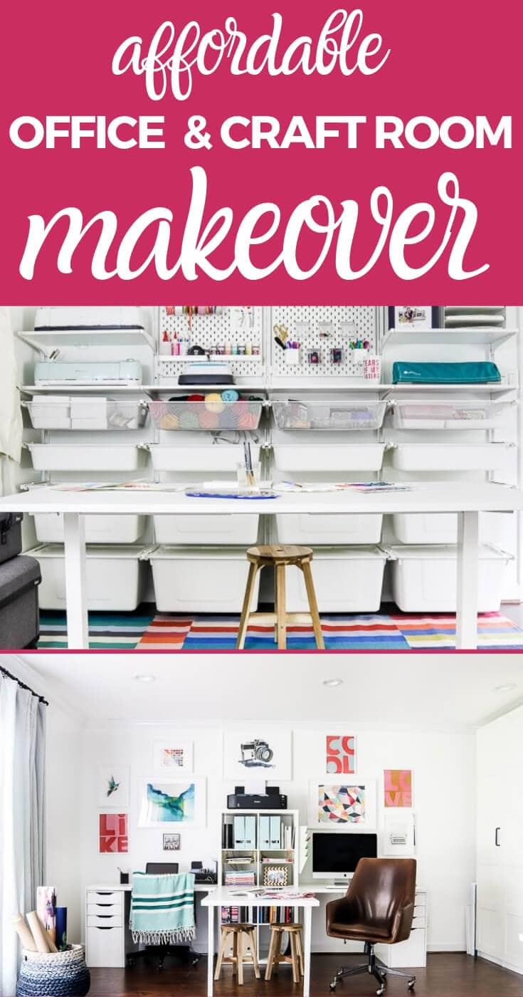 affordable craft room makeover