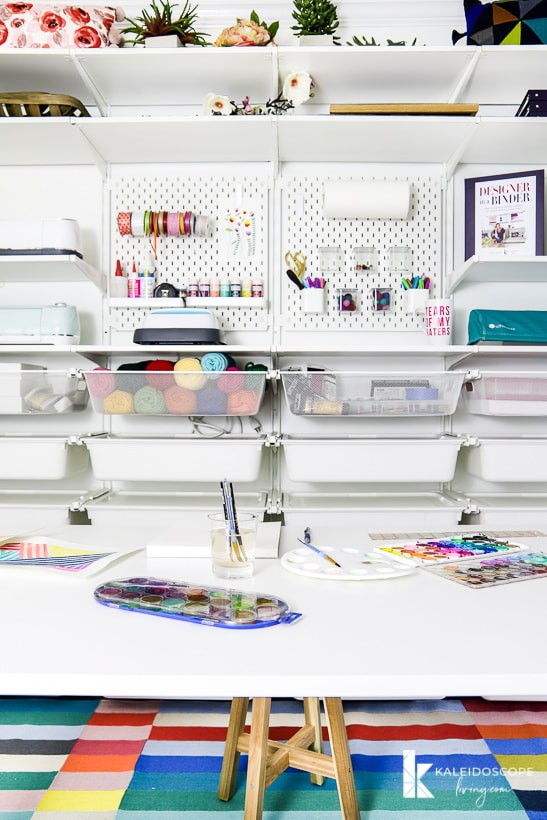 craft room storage using IKEA Algot system