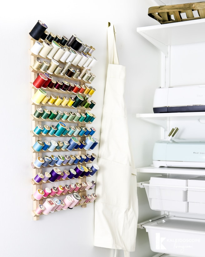 organized sewing thread