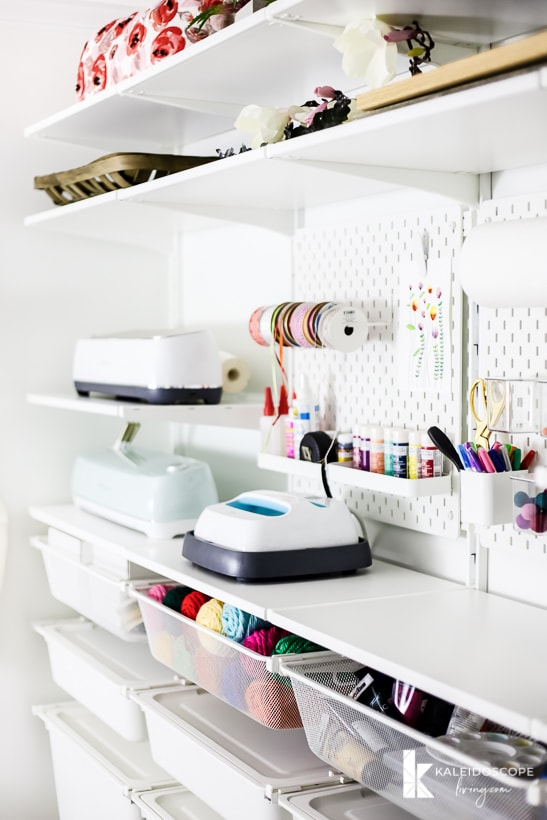 craft room storage and organization with the IKEA Algot system