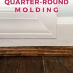 how to install quarter round molding