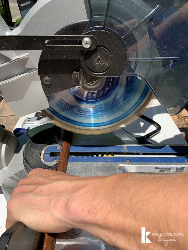 cutting quarter round trim with a compound miter saw