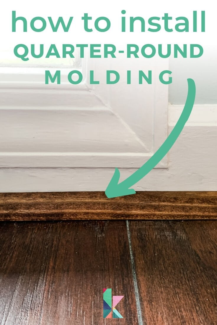 installed quarter round molding that is stained
