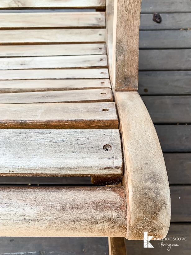 acacia wood sanded down