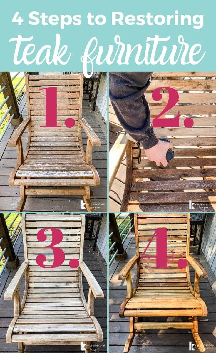 4 steps to restoring teak furniture