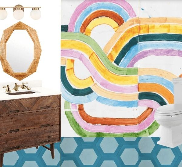 Colorful DIY Bathroom Remodel: Primp and Pamper Week 1