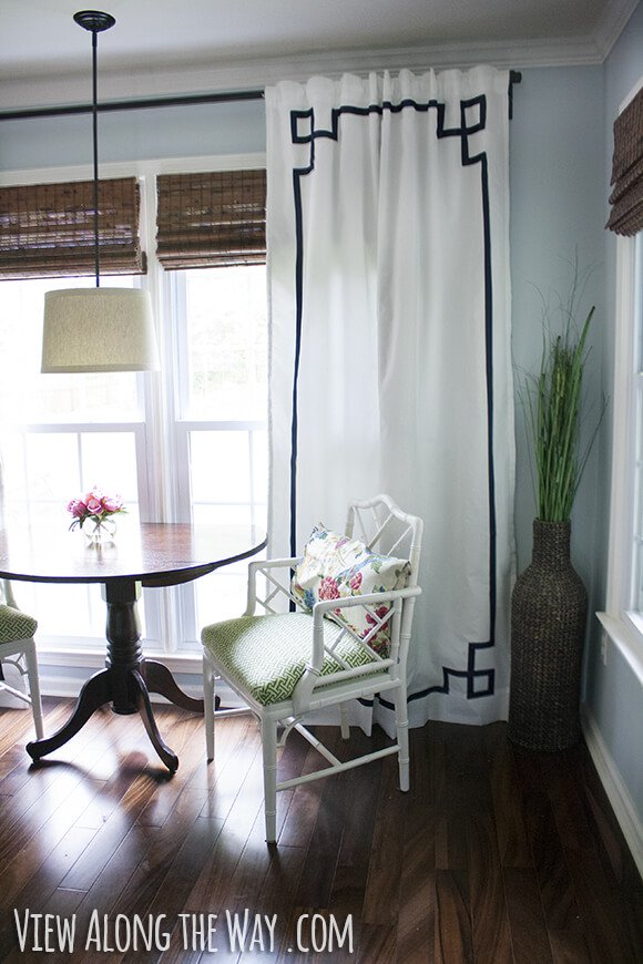 easy greek key curtains