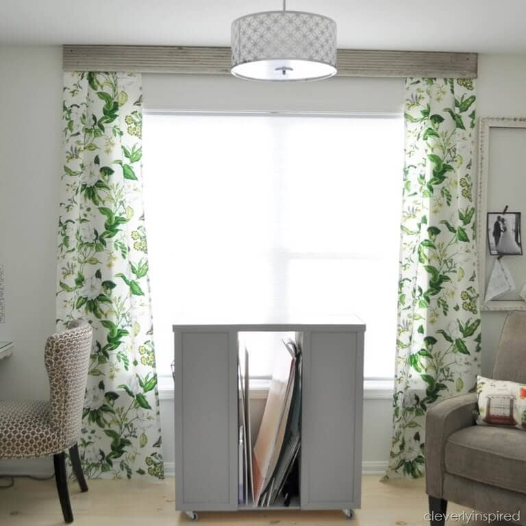 easy curtains with wood