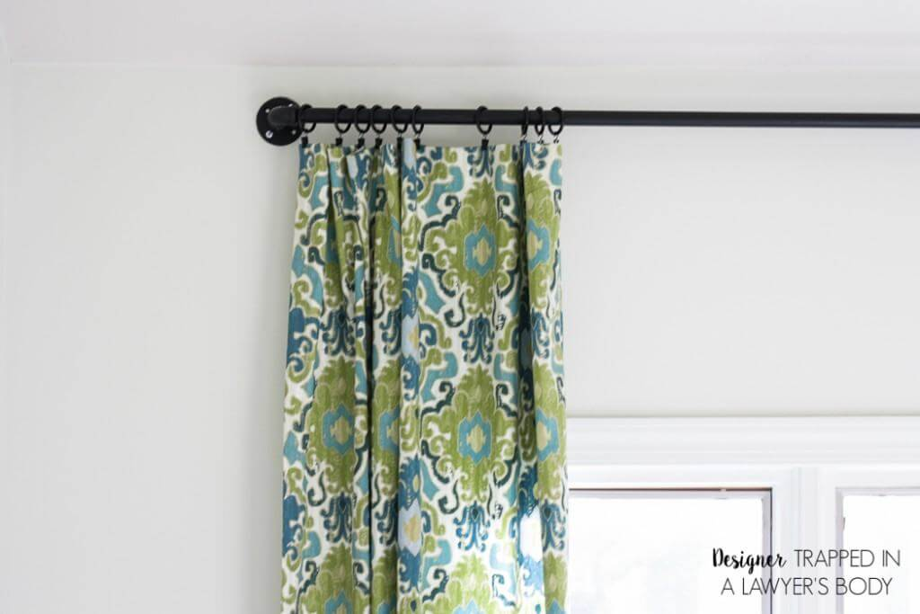 easy curtains with pipe rods