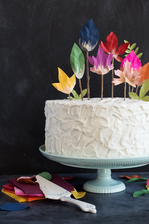 DIY paper sheet cake topper