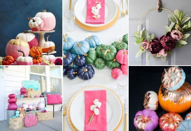 colorful DIY fall decor