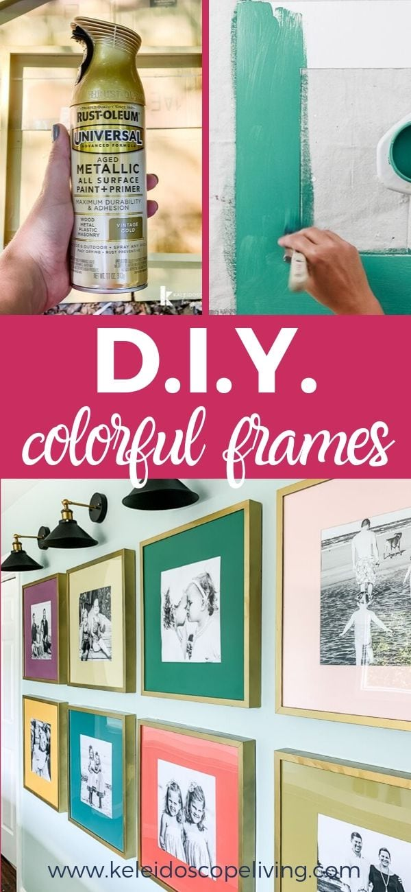 DIY colorful photo frames