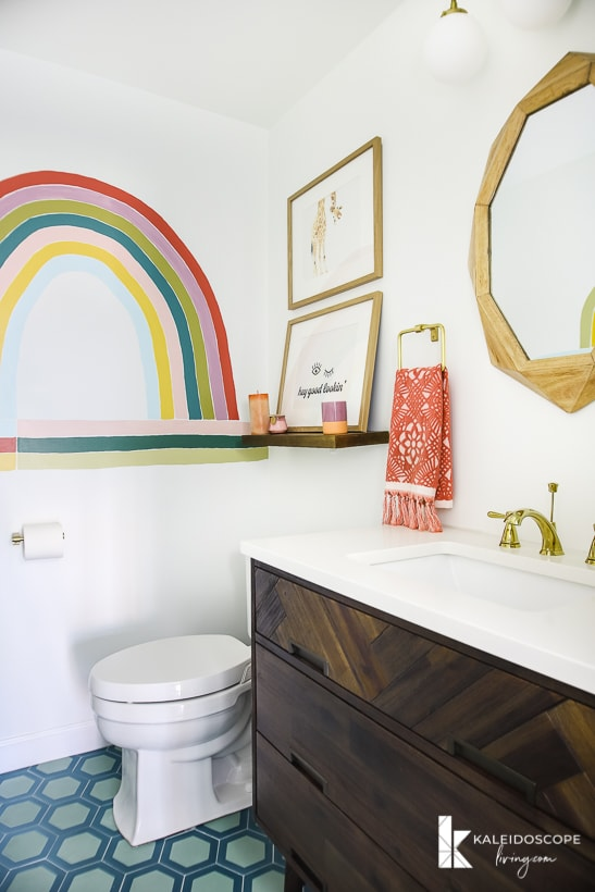 colorful bathroom mural