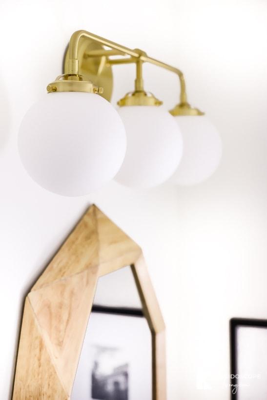 satin brass vanity light from build.com