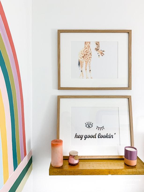 colorful modern powder room remodel