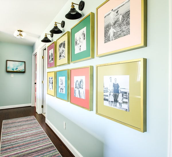 Colorful DIY Photo Gallery Wall
