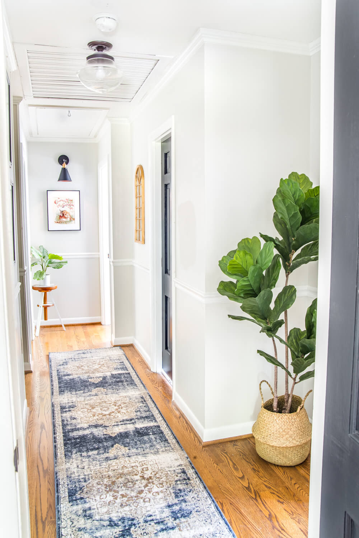 bright hallway makeover