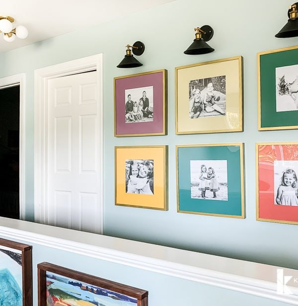 Colorful Upstairs Hallway Makeover Reveal