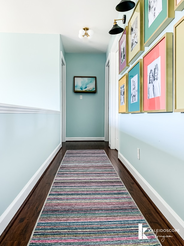 colorful hallway decor