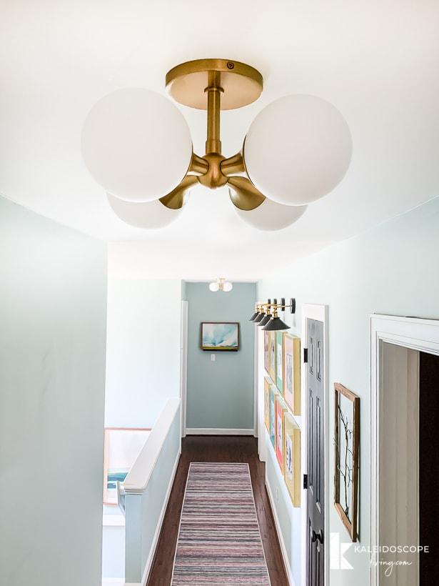 modern colorful hallway