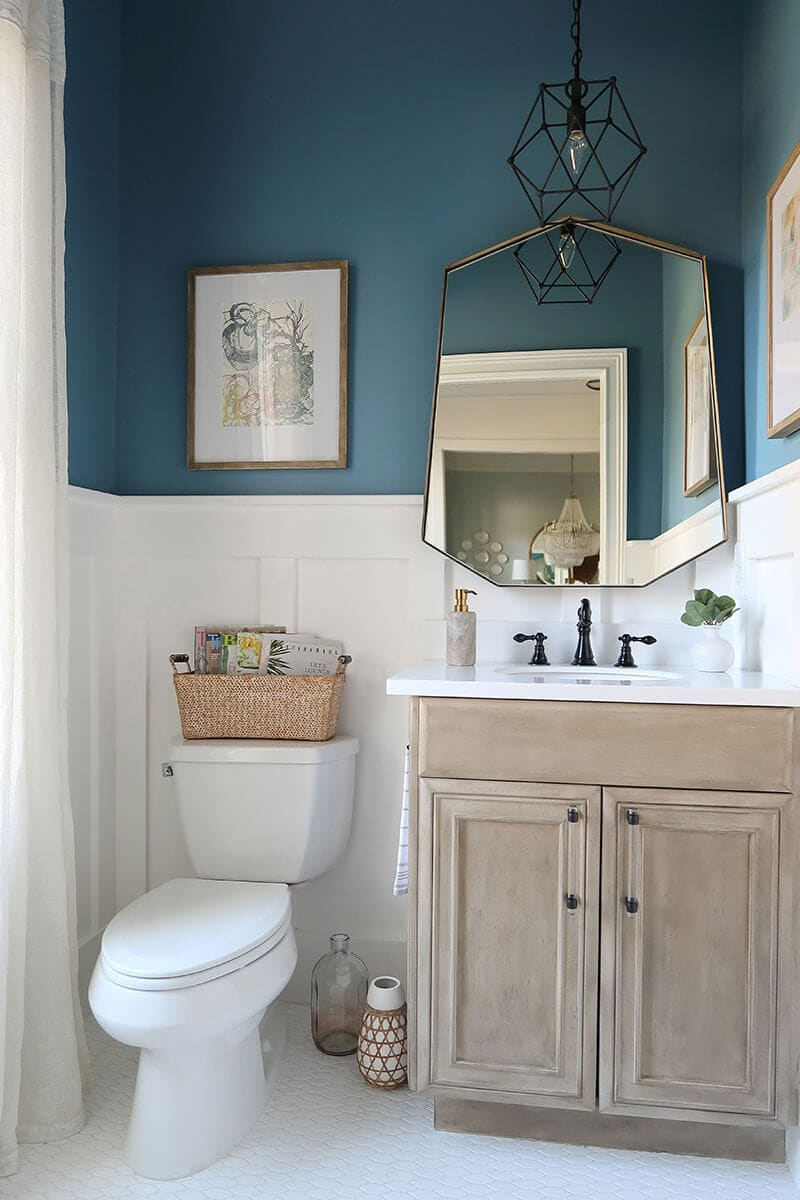 dark turquoise bathroom
