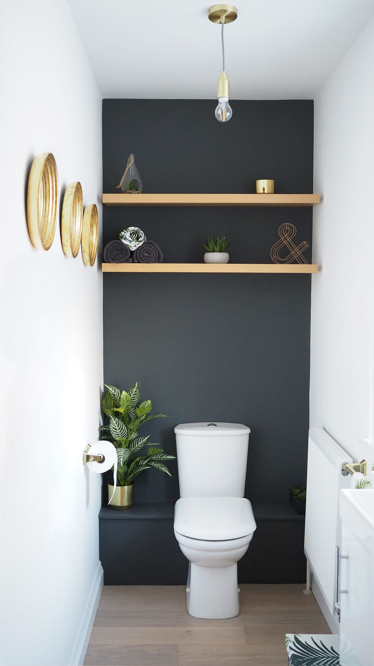 minimal design powder room