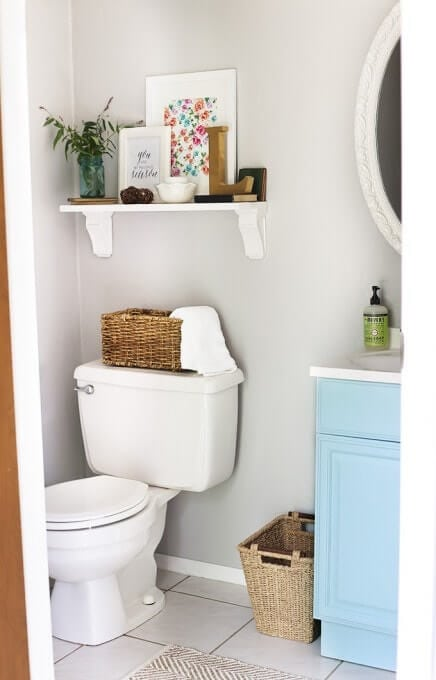 simple powder room makeover