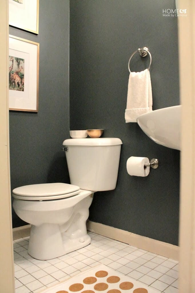 fast powder room makeover