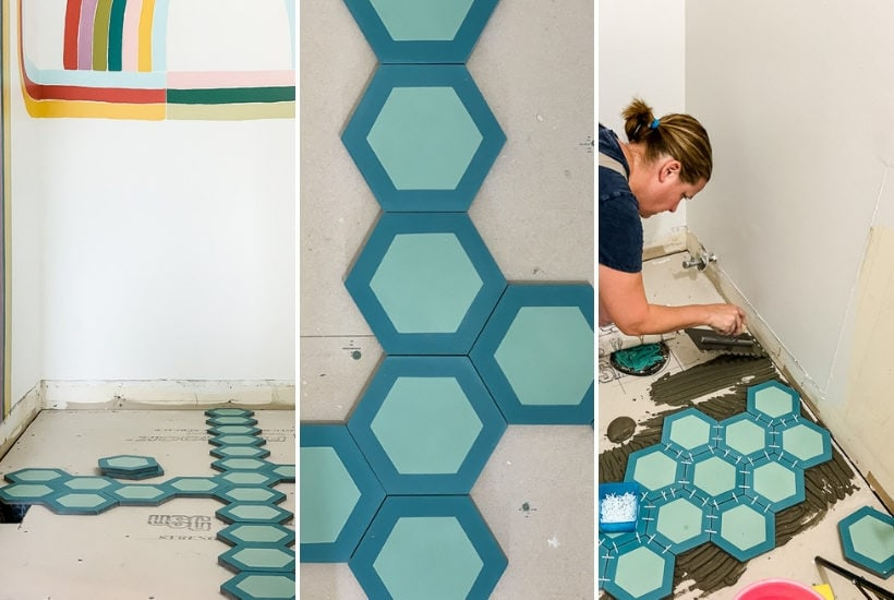 diy installation of cement tile from Saba Tile