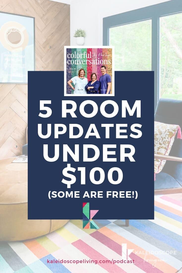 room updates under $100
