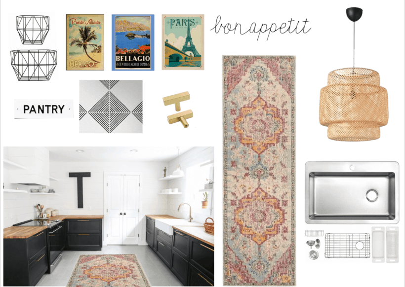 budget-friendly kitchen makeover mood board