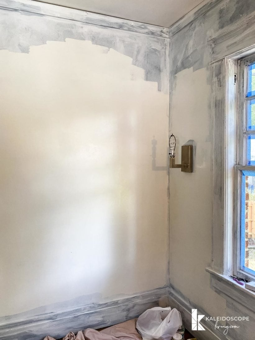changing walls color from dark to white