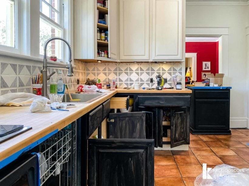 budget-friendly kitchen makeover progress