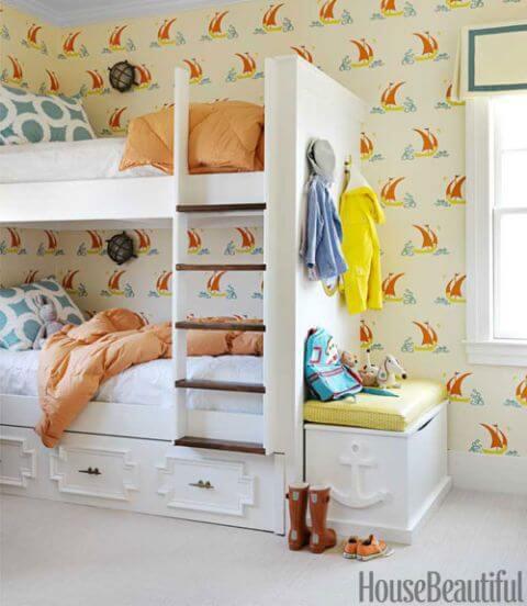 beach built-in bunk beds