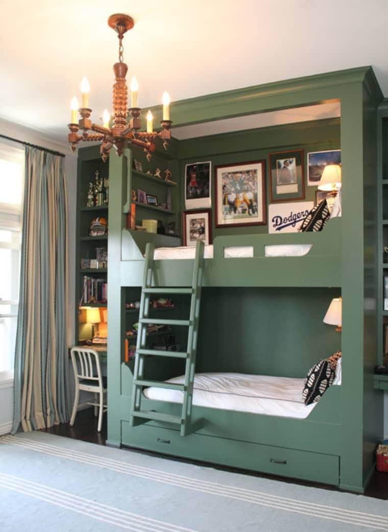built-in bunk beds