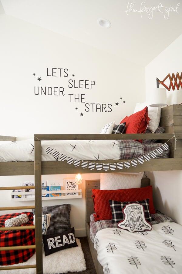 wood DIY bunk beds