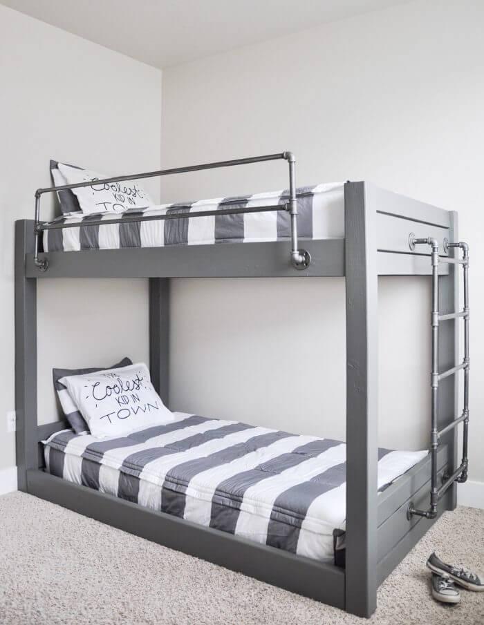 industrial DIY bunk beds