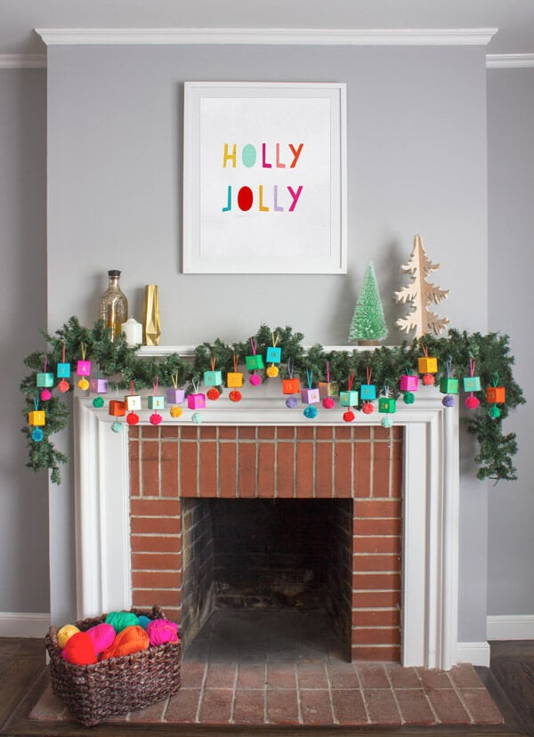 DIY paper advent garland