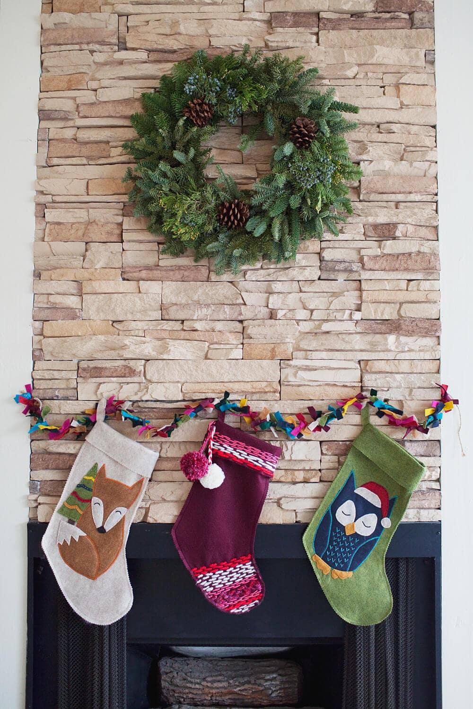 DIY felt stockings and garland